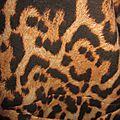 Manteau GISELE en toile de coton imprimé léopard - doublé de satin noir (7)