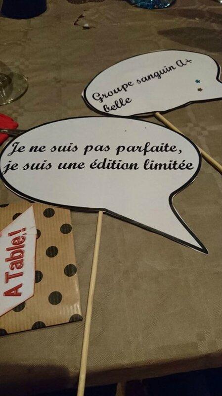 les petits mots pour l'animation ,en rapport avec le caracter de chaque invité !!