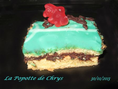Gateau mouss choc terrain foot part