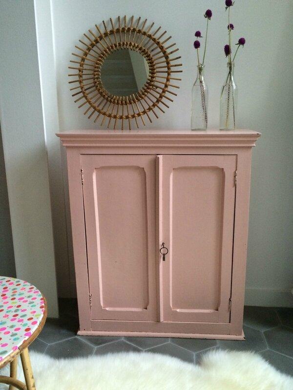 mini armoire rose
