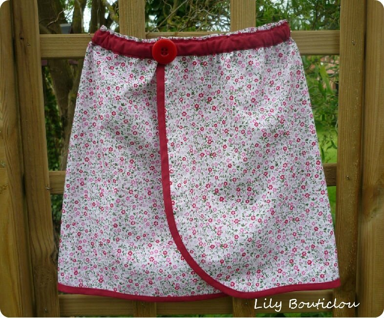 TUTO jupe portefeuille fille couture enfant lilybouticlou