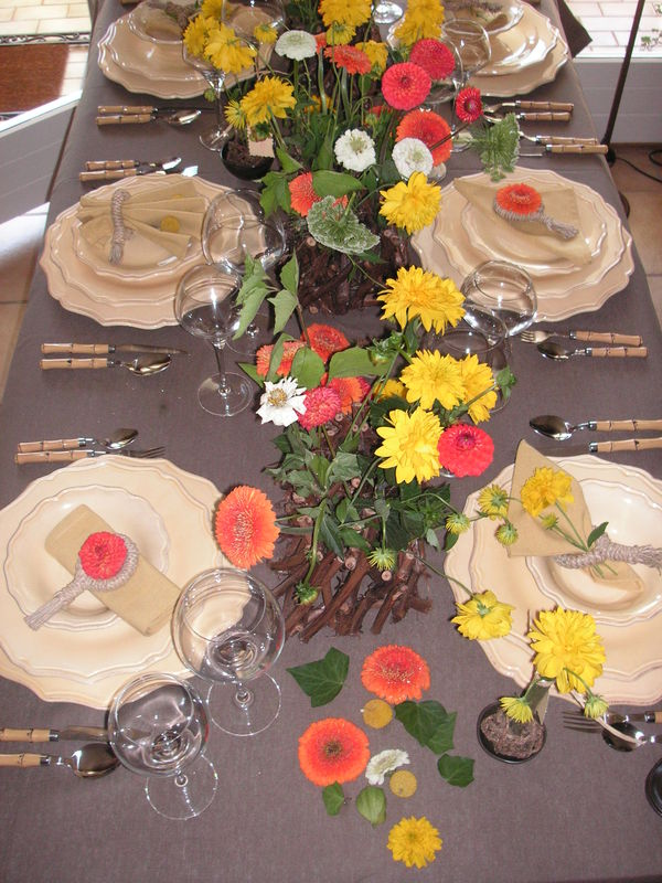 Table Champetre A Table Cote Deco