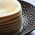 Pancakes au lait concentre sucre