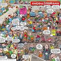 Angoulême vu par Luc Cromheecke (dessin) et Thiriet (scénar) paru dans Spirou et piqué sur le blog de Luc Cromheecke : http://plunkblog.blogspot.com/
