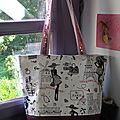 Le sac parisienne avec différents morceaux de tissus!!