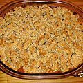 Crumble de bettes