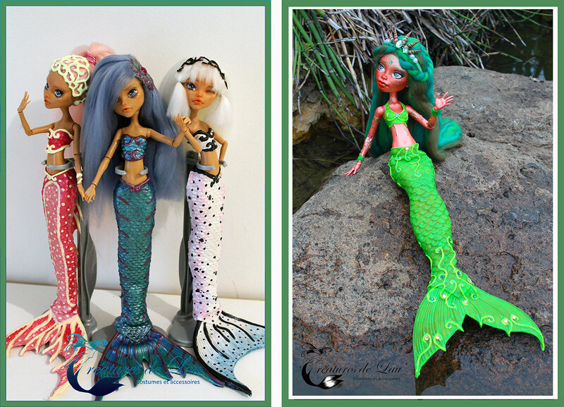 customisation Créatures de L'au sur base Monster High
