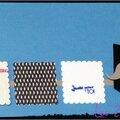 carte porte-billet masculine avec moustache et lunettes