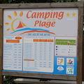 Le camping est à 100m de la plage !