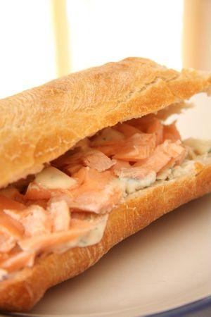 sandwich au saumon