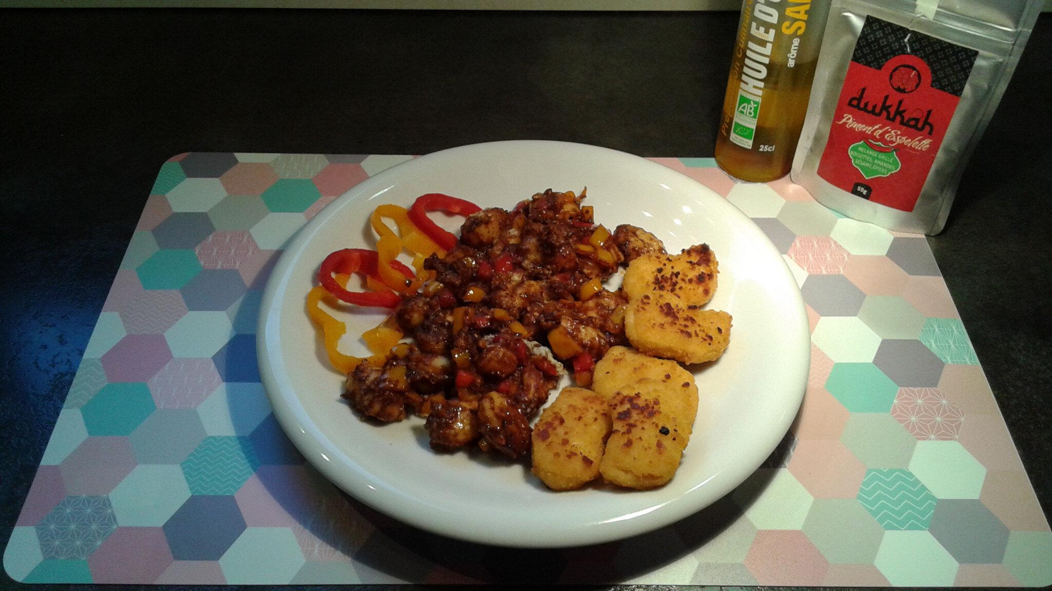 Gratin de gnocchi au safran, parmesan et dukkah sauce tomat'o pruno