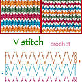 Point v stitch crochet