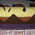 Buche 3 chocolats insert caramel