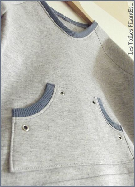 17-Ensemble jean sweat et tee-shirt bleu gris Aurèle15