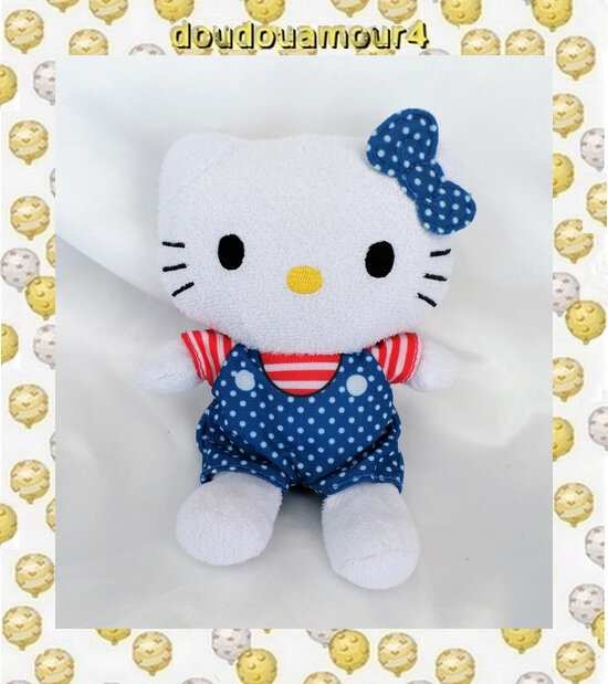 Peluche Doudou HELLO KITTY USA Sanrio