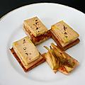 Canpés foie gras kimchi