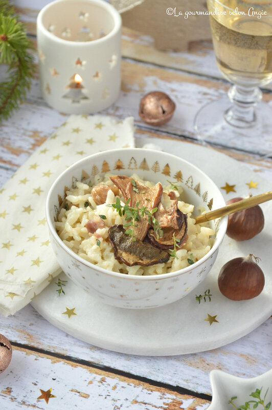 risotto vegan noël chataigne cepes (1)