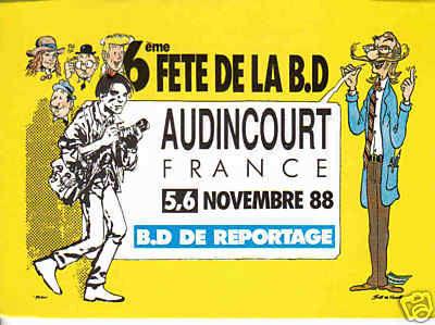 Carte postale festival d'Audincourt 1988
