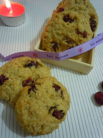 cookies flocons d'avoine cranberries (41)
