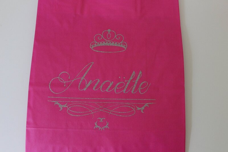 Sac cadeau princesse personnalisé