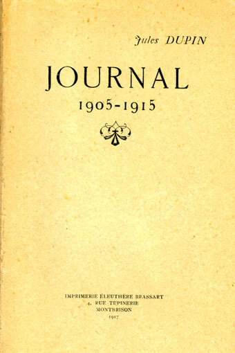 Jules Dupin, Journal, 1905-1915, couv