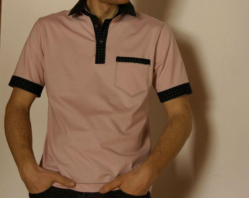 polo pink & black 09