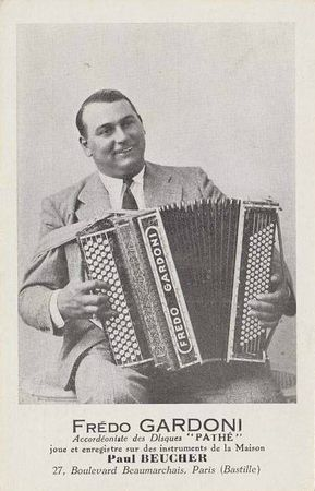 Accordéon CPM Frédo Gardoni