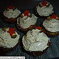 Mini-cupcakes de courgette et son nappage au fromage fondu