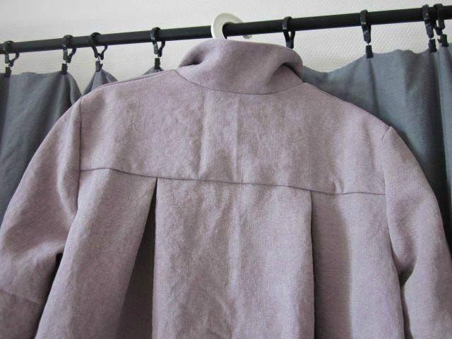 manteau d'été en lin rose fané