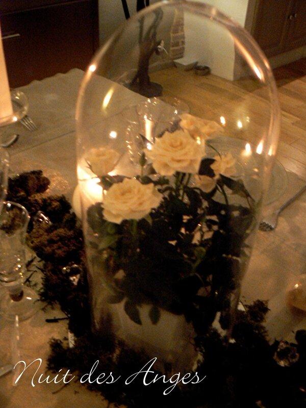Nuit des anges décoratrice de mariage décoration de table blanche et verte 017