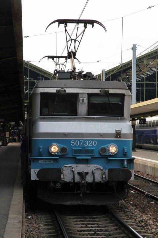 BB 7320 En Voyage TER Bourgogne, Paris gare de Lyon