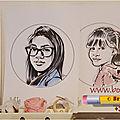 Caricatures d'une famille à nouvel an 2020