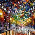 Winter oil paintings of leonid afremov
