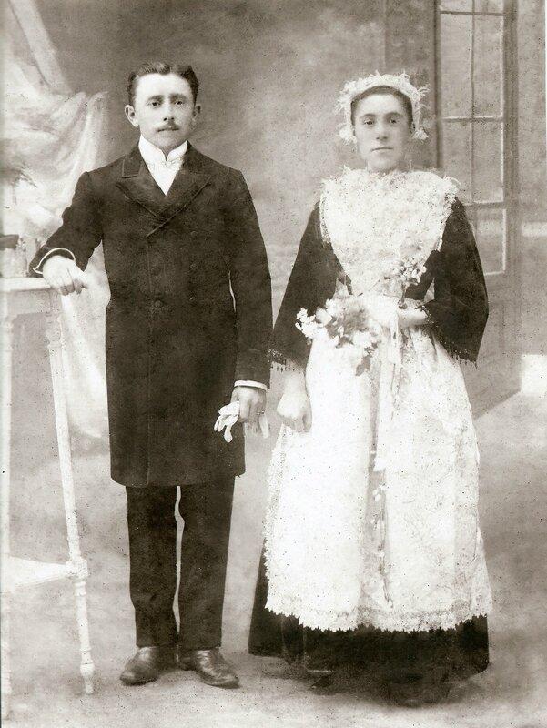 Mariage Yves et Marie Anne Gourcuff 1910