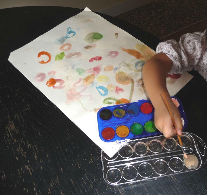 oeuvre d artiste Mathilde fait des ronds 09 2011