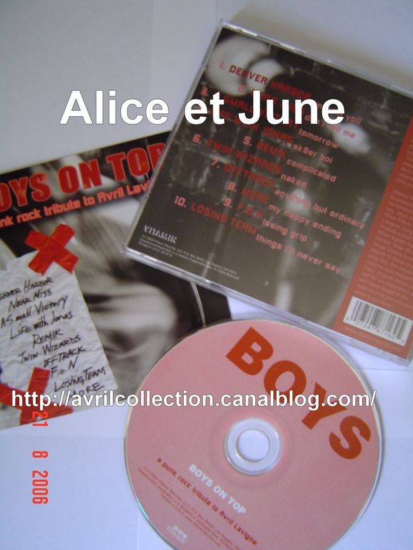 CD Boys On Top: A Punk Rock Tribute To Avril Lavigne (2004)