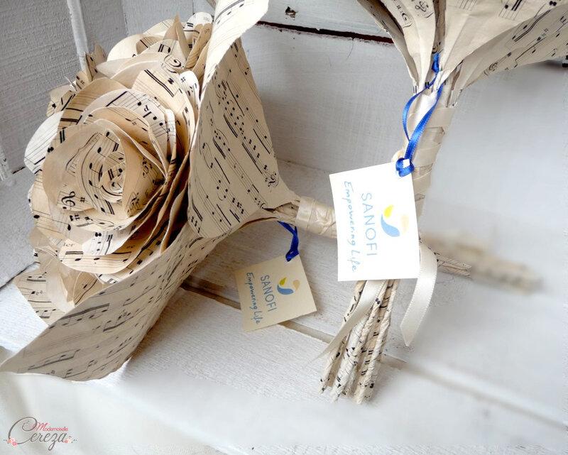 bouquet-fleurs-original-event-corporate-sanofi-chorale-partition-musique-mademoiselle-cereza-deco-g-l