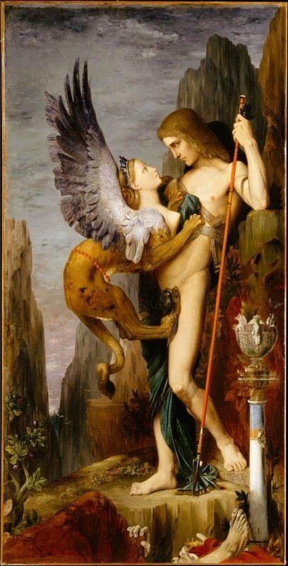 Oedipe et le Sphinx-1864 Gustave Moreau