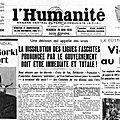 Juin 1936 : la dissolution des ligues