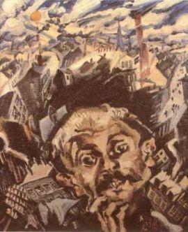 Ludwig Meidner, Moi et la ville, 1913