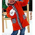 Manteau vintage enfant à fleurs seventies original made in france