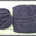 Snood et béret au point irlandais