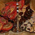 gâteaux aux dattes, sablès chocolat