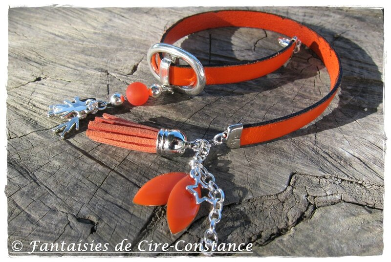 Bracelet Love Family orange-1
