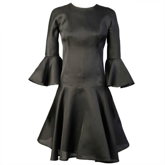 Balenciaga 1960's Haute Couture Silk Gazar Cocktail Dress