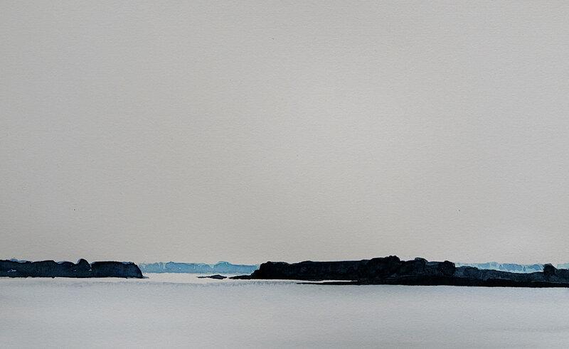 Creïzic et la jument, Golfe du morbihan aquarelle mai 2018