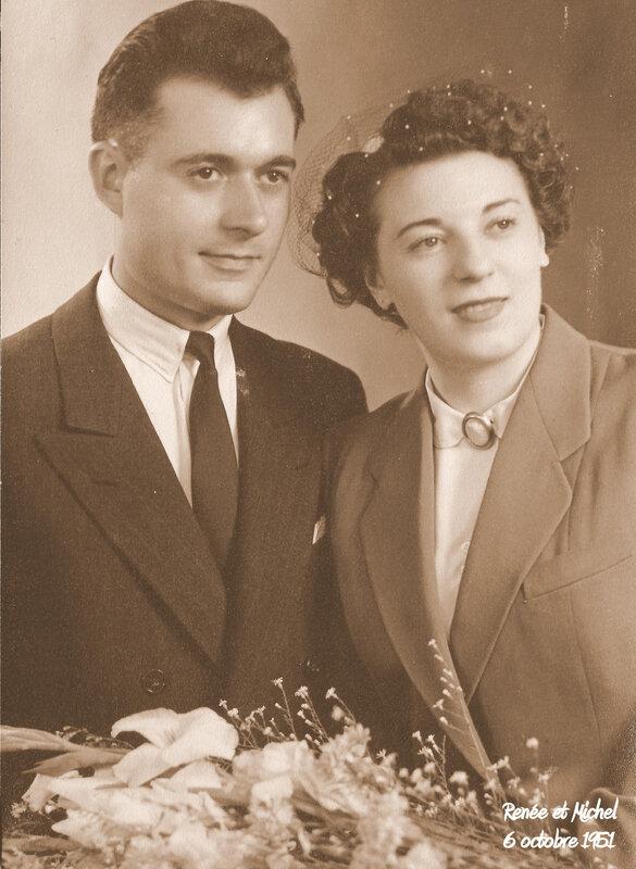 Renée et Michel 6 octobre 1951