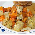 Butternut et pommes de terre au four