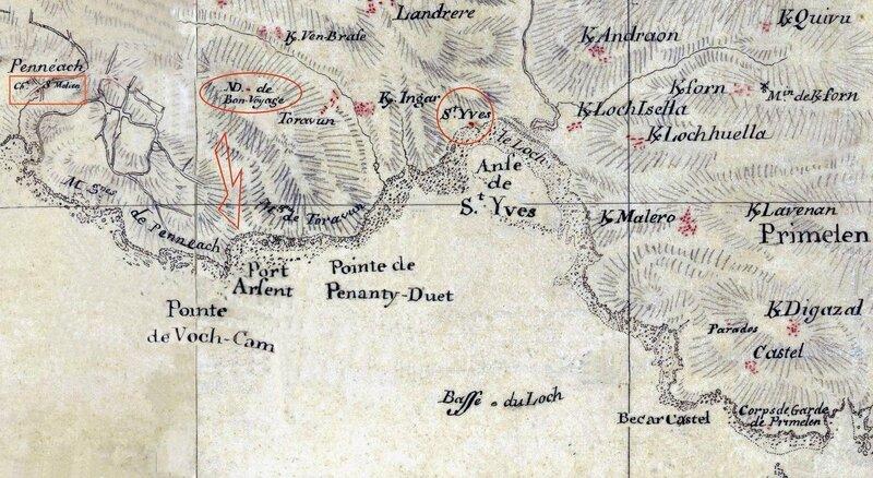 Ch30 - Carte de l'anse de Saint Yves en 1776