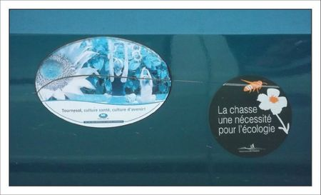 sticker chasse agricole